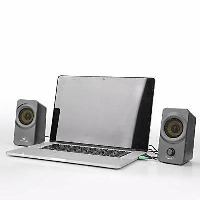 Desktop Computer Speakers Stereo Fr PC Laptop Small Media