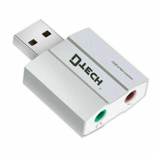 DTECH Card 3.5mm Mic Jack Converter