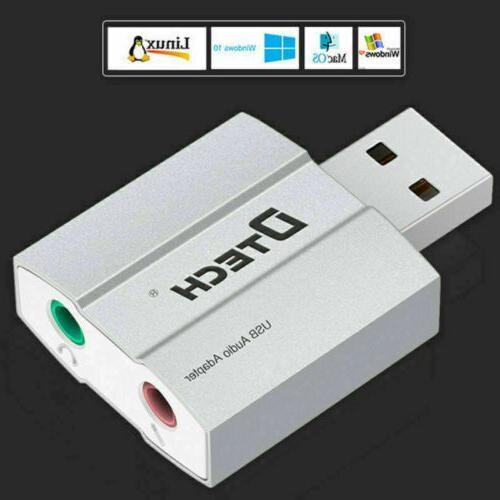DTECH External Sound Card Adapter Converter