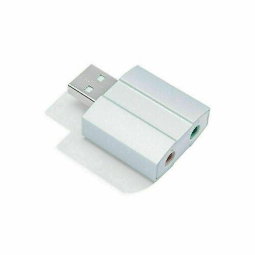 DTECH Sound Card 3.5mm Headphone Converter