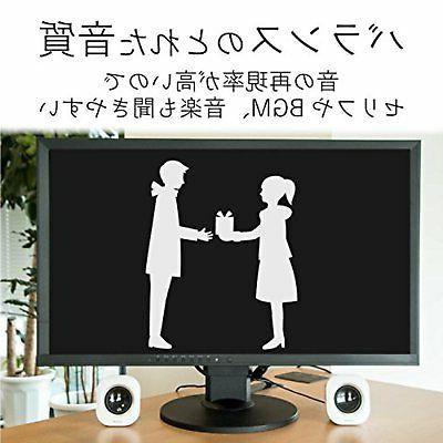 ELECOM PC speaker compact 5W MS-P08USBWH