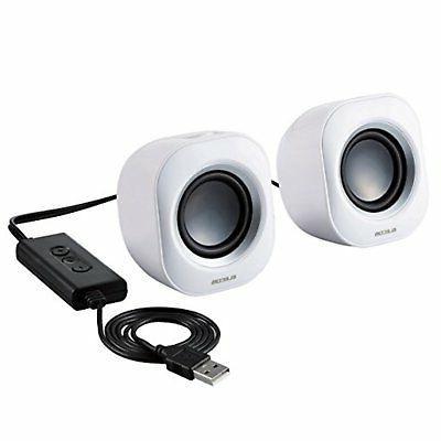 elecom pc speaker compact 5w usb connection