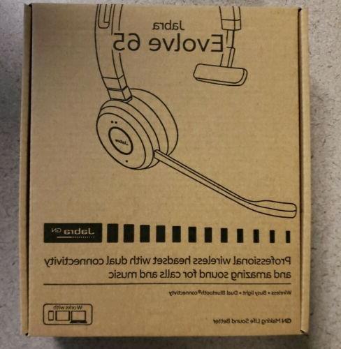 evolve 65 ms mono wireless headset music