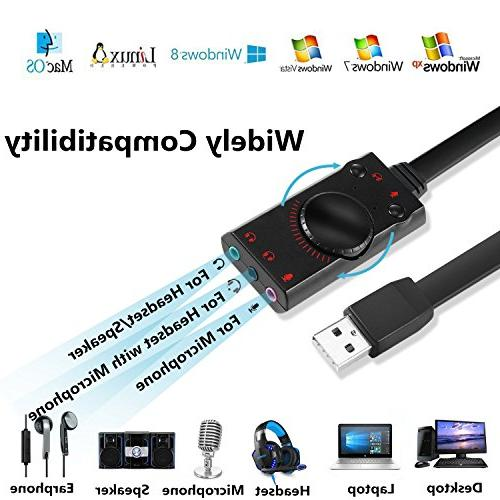 External USB Card Converter with Plug for Laptop with Windows Mac OS Linux