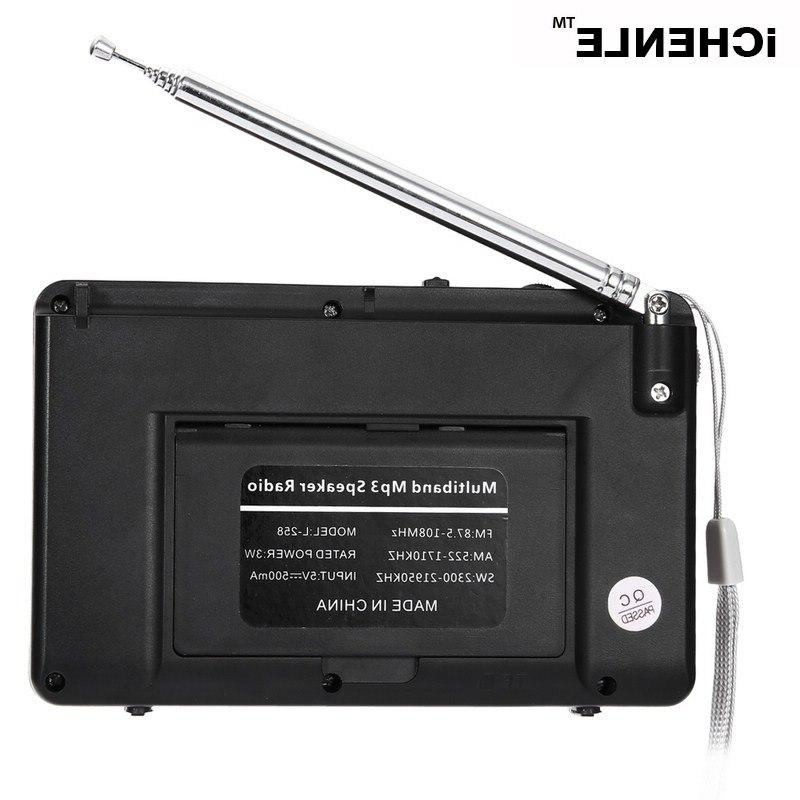 FM/AM/<font><b>SW</b></font> Radio MP3 Music Player bass Card USB Aux Multifunctional LCD Portable