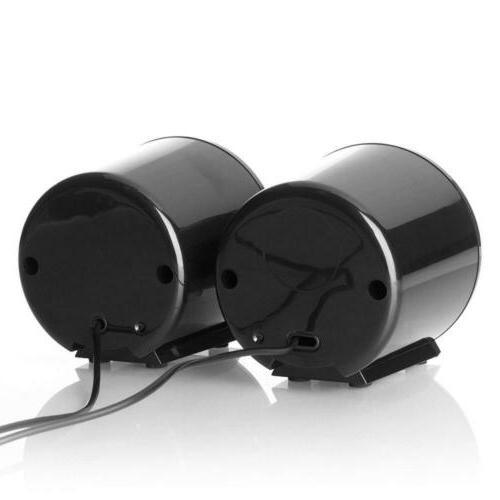 Frisby Computer Laptop Notebook Desktop Speakers Black