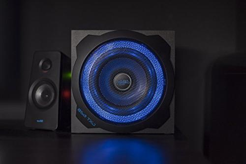 120 Watts Speakers for PC, Xbox 360 & 3, Illuminated with LED Lights and