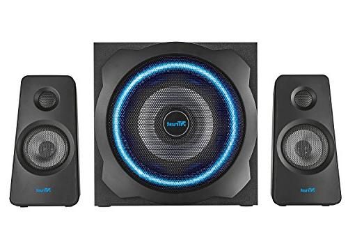Trust GXT 120 Watts Speakers Xbox & 3, Illuminated Lights Subwoofer