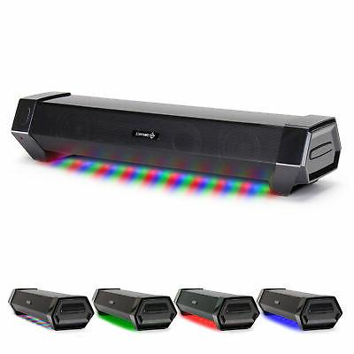 gaming speaker soundbar under monitor pc led