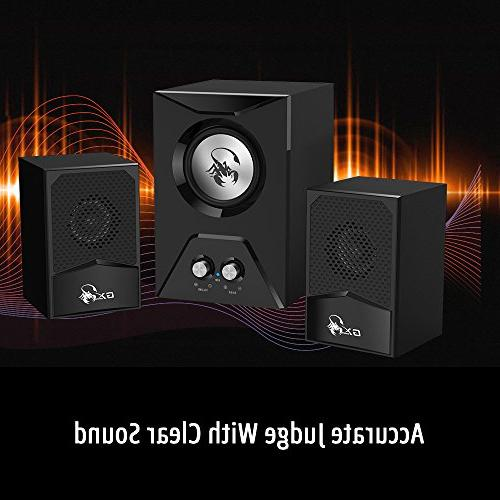 Genius SW-G2.1 500-2.1 Wooden Subwoofer Speaker with Deep Bass/RMS 15 Watts/Crystal Laptops, Game & Smartphones