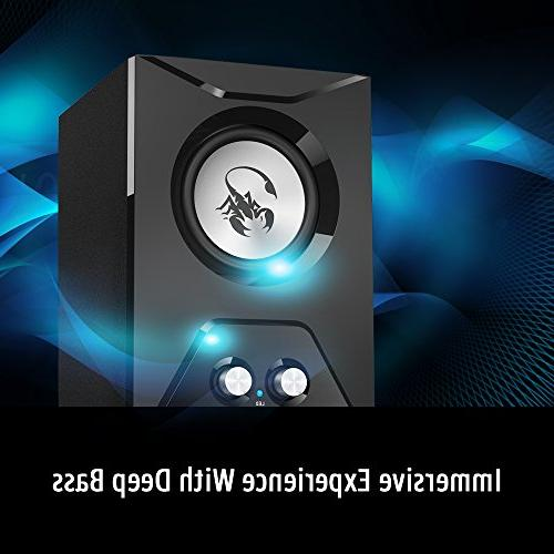Genius SW-G2.1 500-2.1 Channel Wooden Speaker with Deep for Desktops, Laptops, Game Consoles,