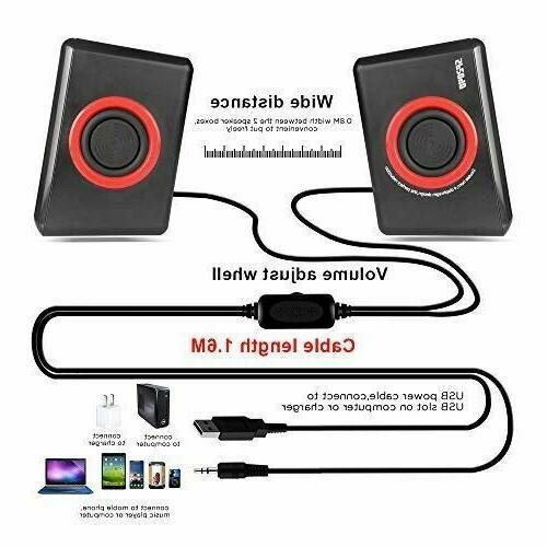 GamingSpeakers 6x9 System Loud Bass USB Desktop