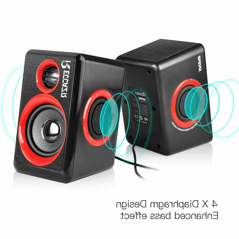 GamingSpeakers PCSurround Sound System Loud Deep USB Desktop