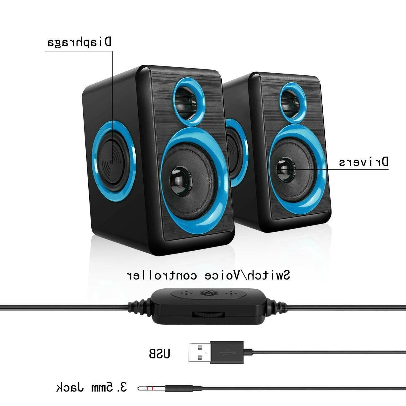 Gaming Speakers PC Surround Deep Bass USB Desktop Computer