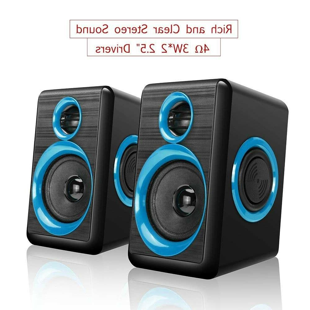 Gaming Speakers PC Deep Bass Computer