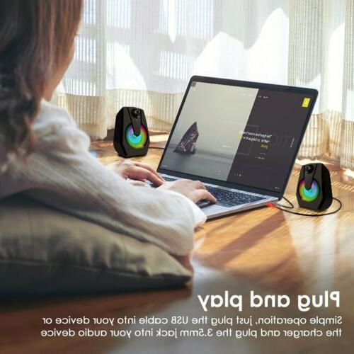 Computer Speakers PC Desktop Laptop Gaming US