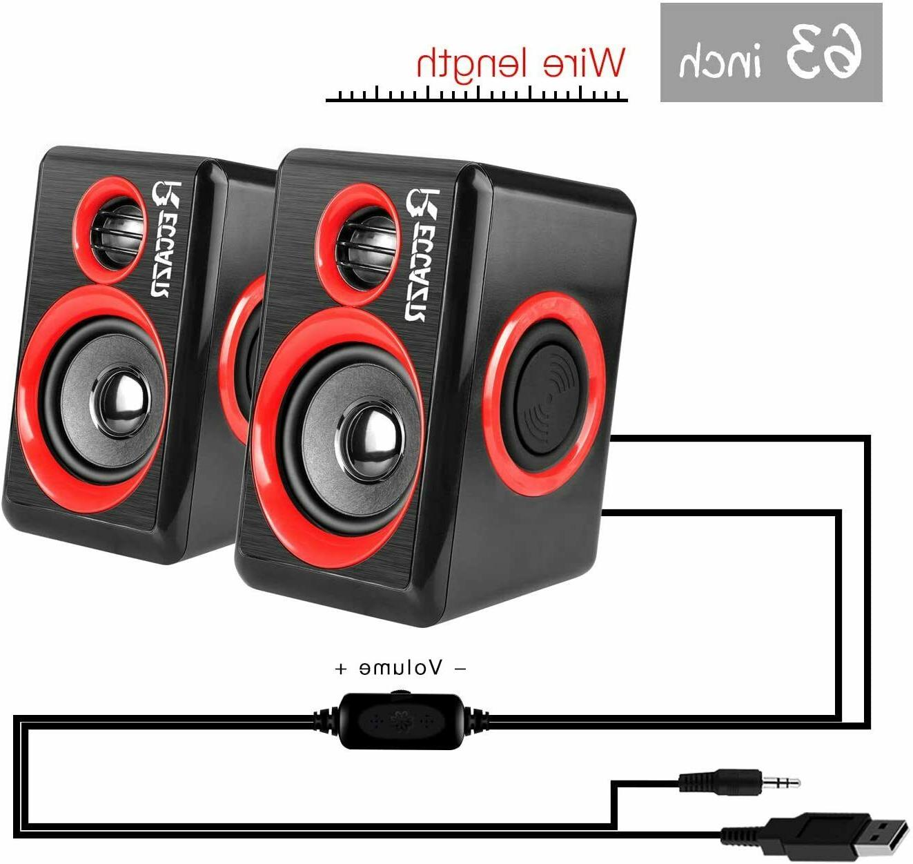 Gaming Speakers Sound Bass USB Desktop NEW