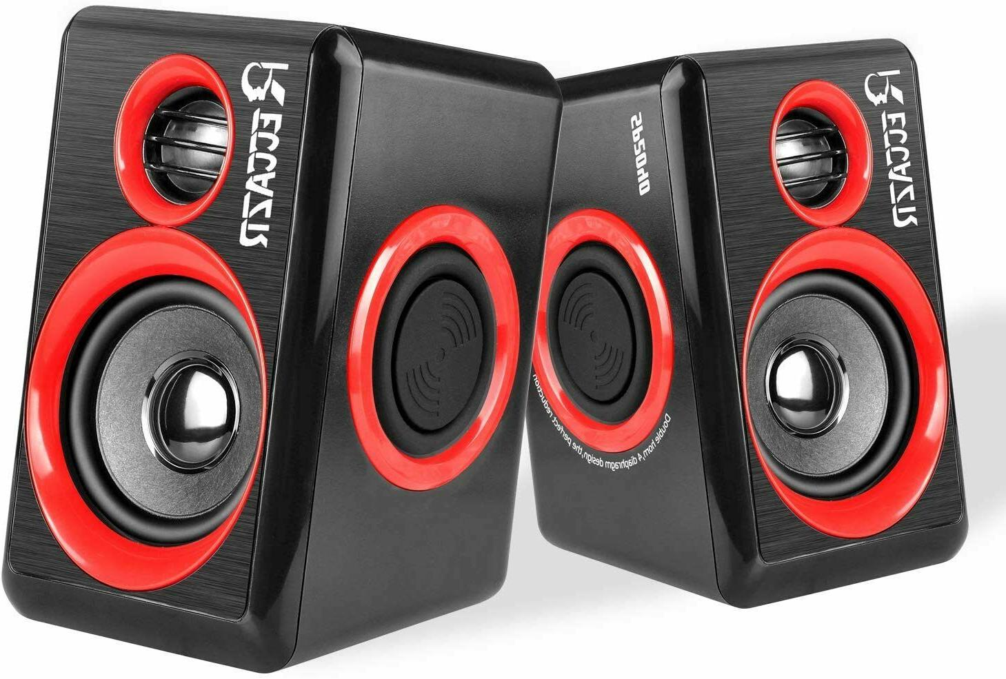 Computer Speakers, 2.0 CH PC Speakers with Surround Sound, U