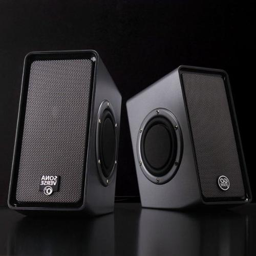 GOgroove O2 Multimedia Stereo Powered Subwoofer & Volume