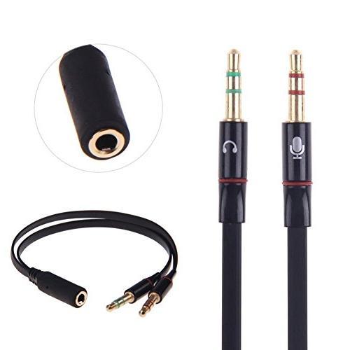 3.5mm Headphone Audio Splitter Cable PC Laptop -