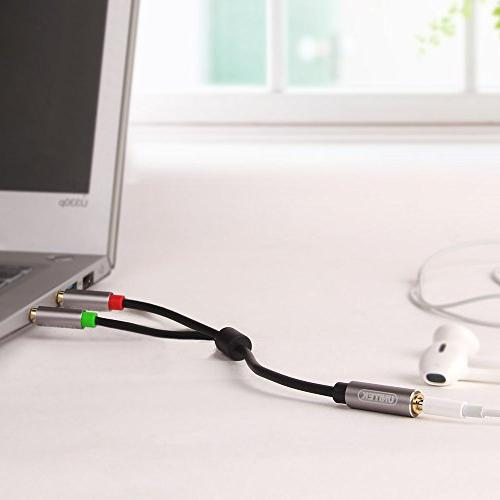 UNITEK Gold 3.5mm Stereo Male Aux with Plugs, Aluminum