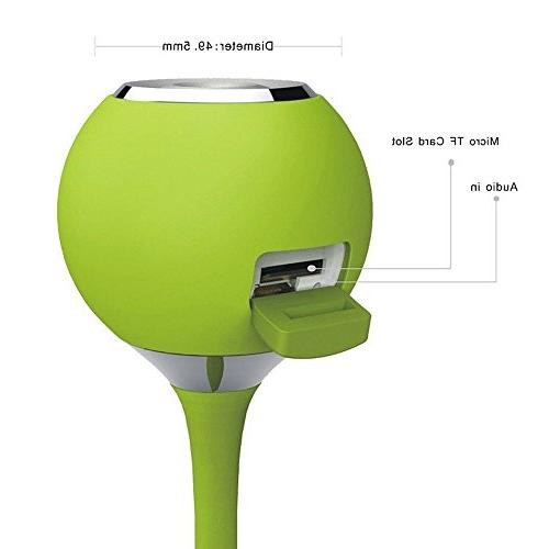 CARBAYSTAR Green Shape Wireless Bluetooth, & Shower Hands Free Calling, & USB.Suitable for tablet iPhone,,