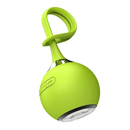 CARBAYSTAR Green Waterproof Ball Shape Wireless Bluetooth, Outdoor & Shower Hands Free Rechargeable battery, & tablet iPhone,, Android Phones