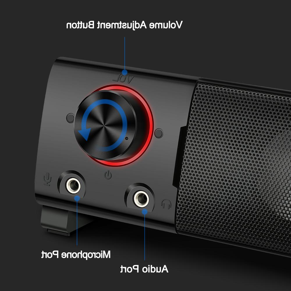 Redragon GS550 aux powerful music speakers for notebook TV loudspeakers