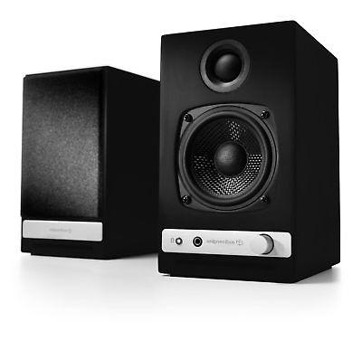 hd3 black open box powered speakers pair