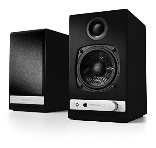 Audioengine HD3 Bookshelf Speakers Black DS1 Desktop Stand