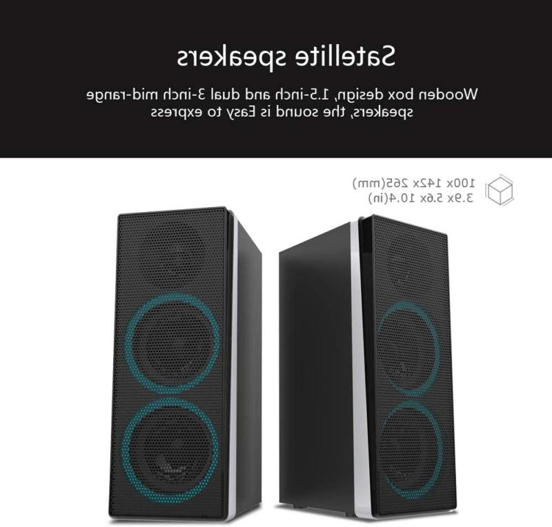 ineo Wooden Gaming/PC Speakers and Individual Control (W