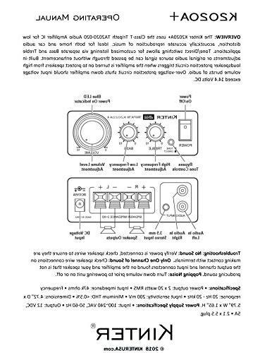 Kinter K2020A+ Original Tripath Hi-Fi Mini Amplifier with 5A Power Supply