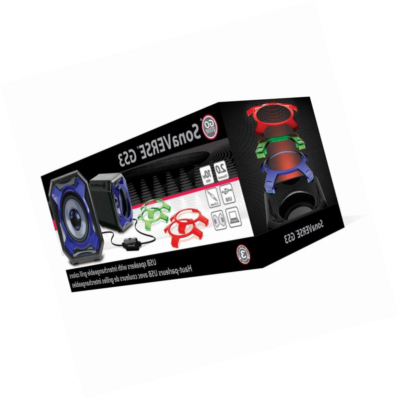 GOgroove Laptop PC USB Wired AUX Cord -