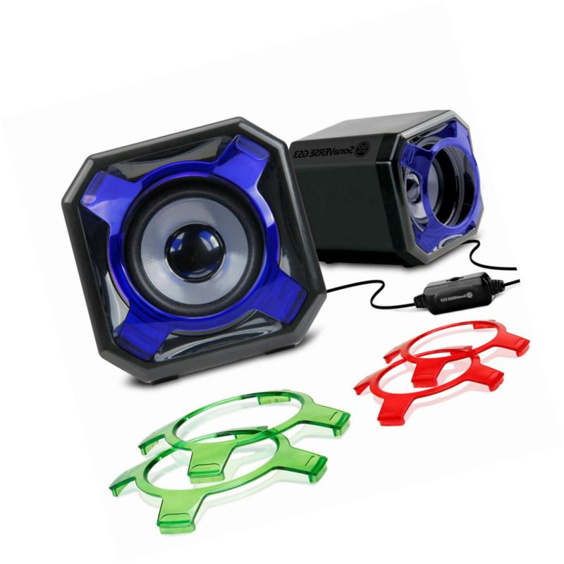 laptop pc speakers usb powered with wired
