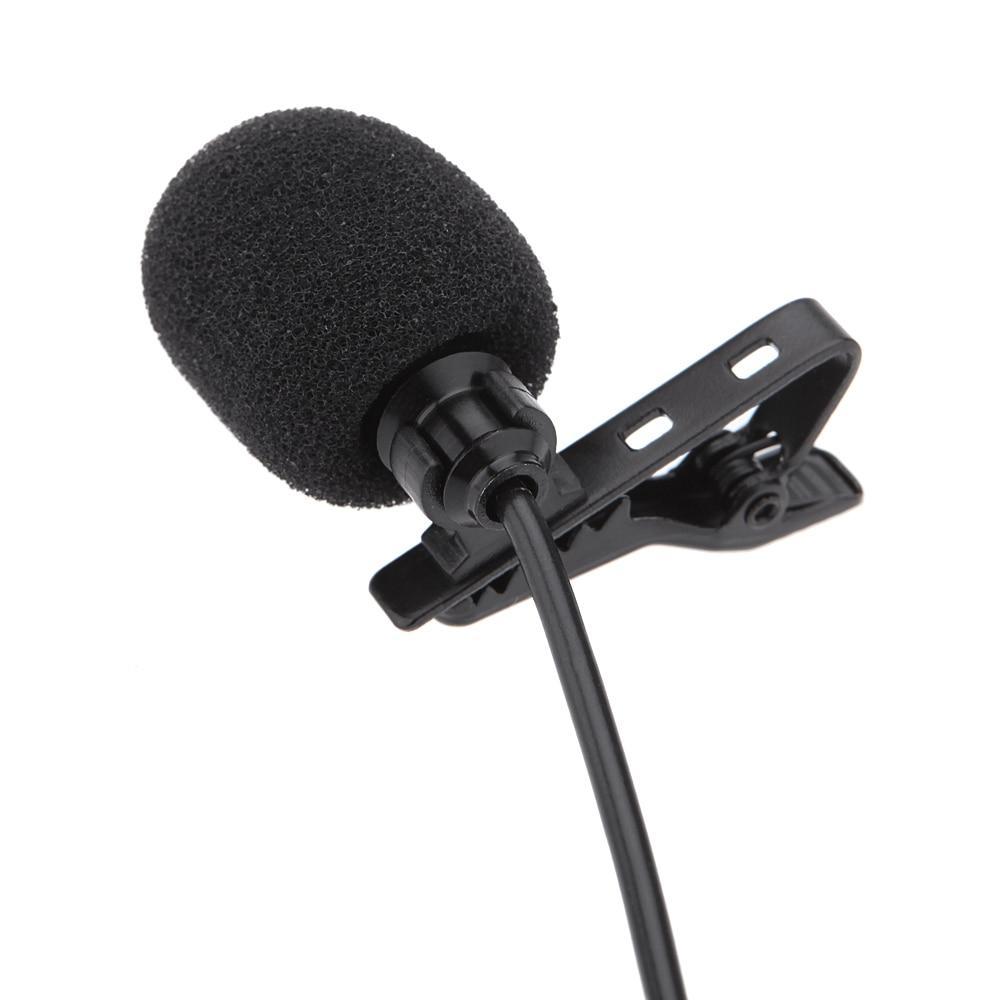Lavalier <font><b>Mono</b></font> Microphone 3.5mm Collar Clip for Computer <font><b>PC</b></font> Laptop