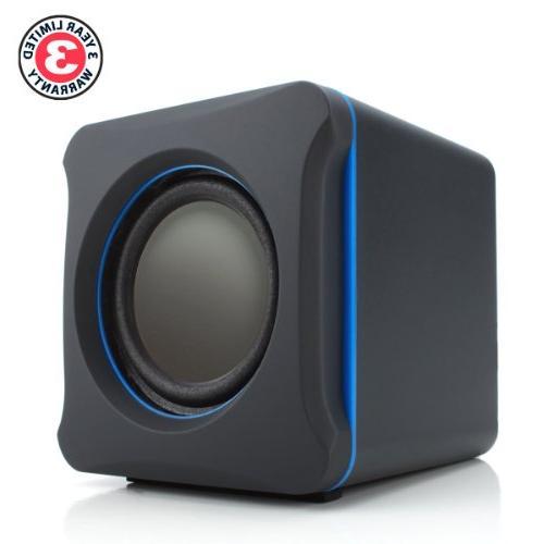 GOgroove Gaming Speakers SonaVERSE LBr - USB Powered 3.5mm Input, Bass/Volume Alienware, ASUS, Razer, More Gaming