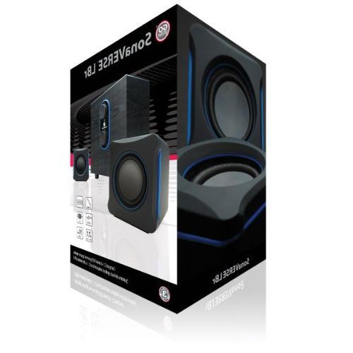 GOgroove 2.1 PC Speakers SonaVERSE - USB 3.5mm AUX Audio Bass/Volume Knobs, RMS Alienware, ASUS, Razer, Gaming