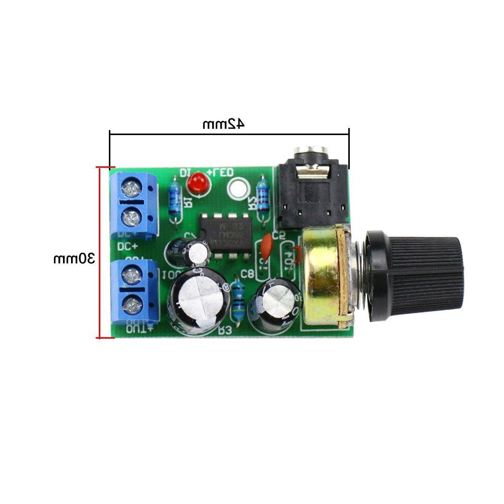 GHXAMP LM386 <font><b>Mono</b></font> Amplifier Board Amplifier <font><b>PC</b></font> DIY Small radio 3.5mm