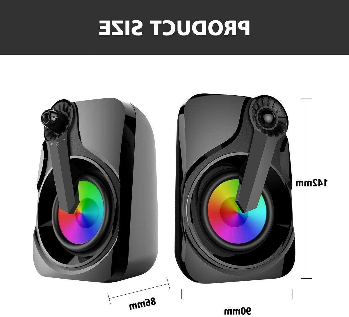 Maboo USB Bar Speakers Desktop PC RGB