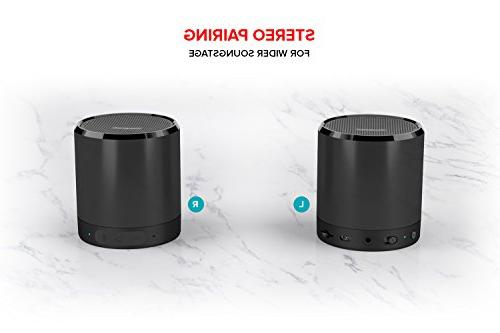 Creative Metallix Speaker with Bluetooth Wireless, 24-Hour 4-Way Music Playback, Stereo and Built-in Speakerphone