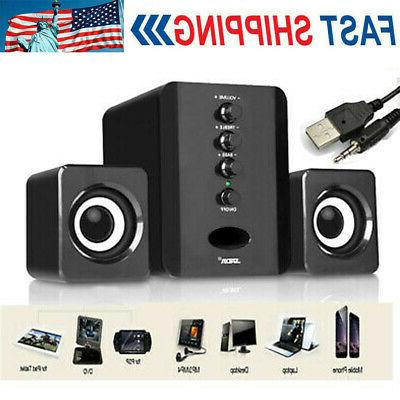 mini computer speakers usb desktop pc laptop