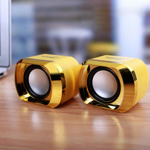 Mini Computer Speakers USB PC Desktop TV Stereo Wired US