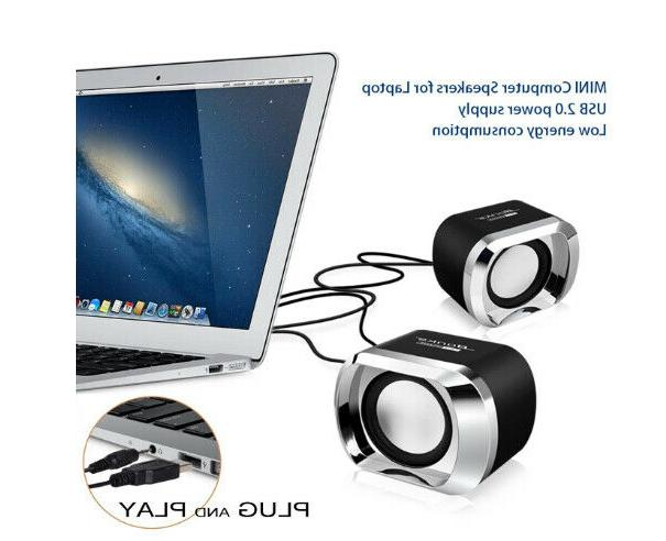 Mini Speakers USB PC Desktop Stereo Sound Wired