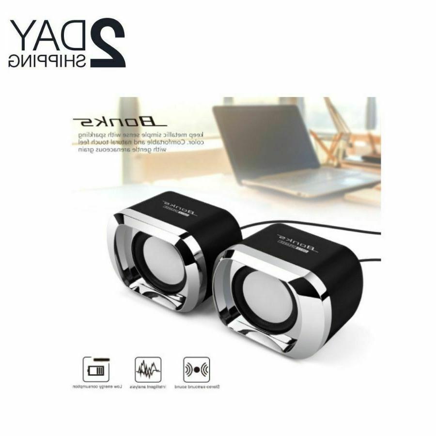 mini computer speakers usb pc desktop laptop