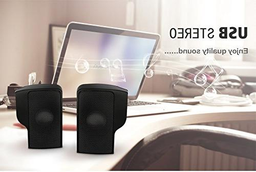 ELEGIANT Mini Computer USB for MP3 Phone Music Player Laptops