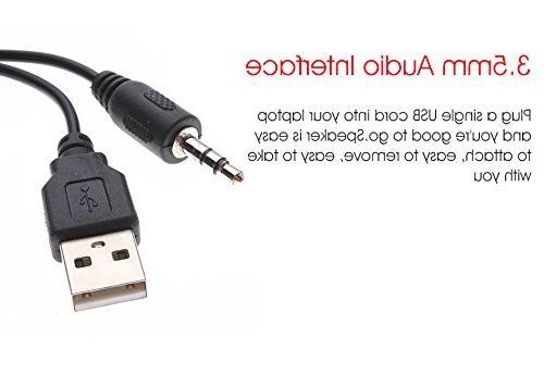ELEGIANT Mini Portable Computer USB Speaker Stereo for MP3 Phone Player Laptops