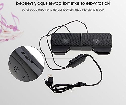 ELEGIANT Portable USB Stereo MP3 Music Laptops