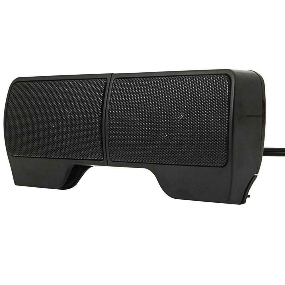 6W RMS Portable Wired USB Computer Speakers Stereo 3.5mm Jac