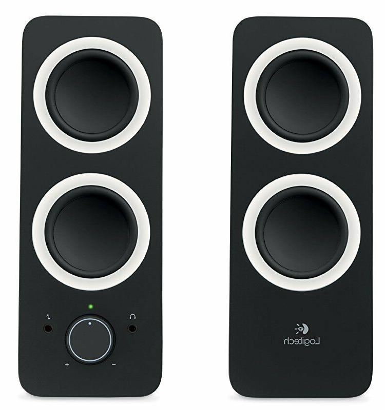 Logitech Speakers Z200 with Multiple Black