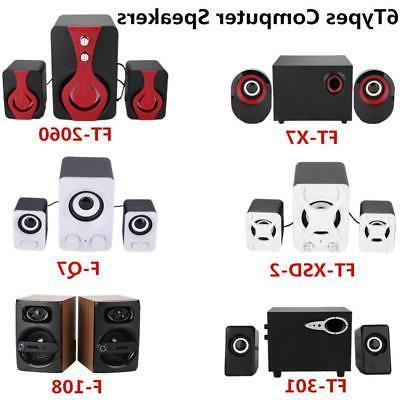 multimedia usb stereo speaker subwoofer for computer